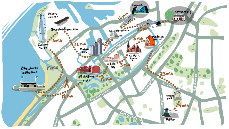Malm sweden travel guide and tips finding new paths travel this is the map provided by malmo city and we think it is great to provide a geographic perspective about the city we loved this interactive format and we publicscrutiny Choice Image