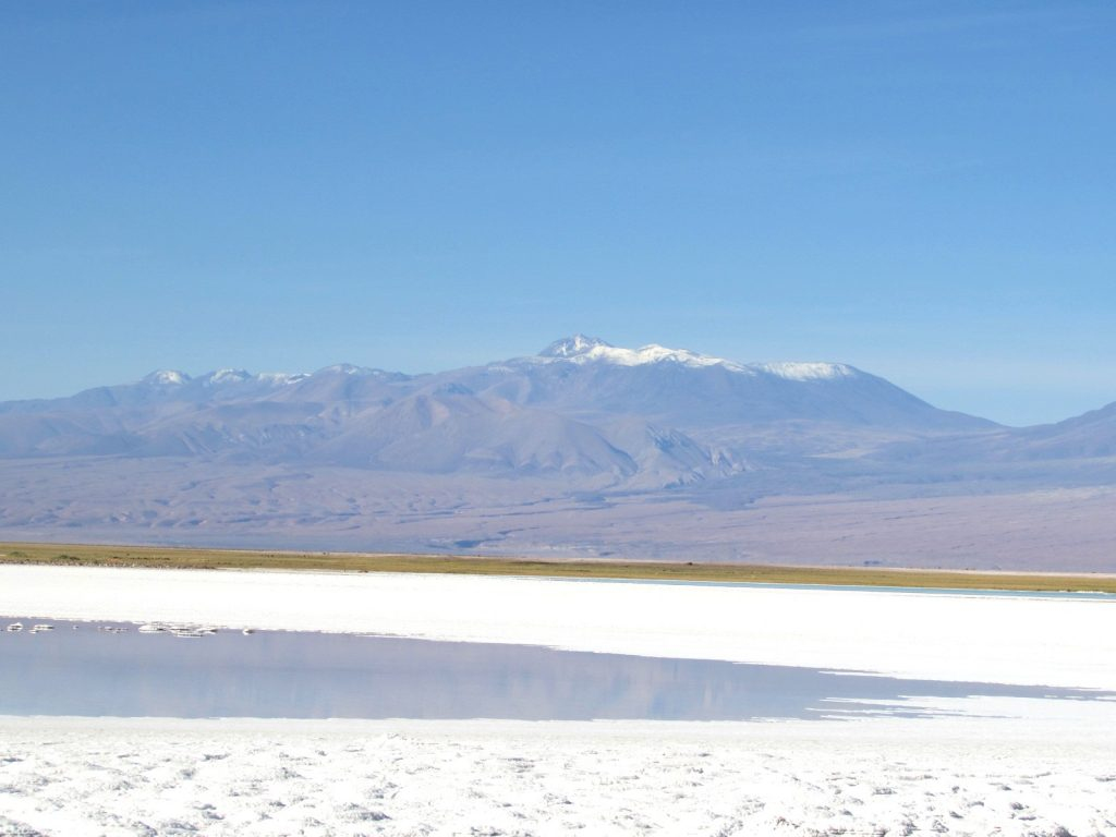 Laguna Tebenquiche no Deserto do Atacama