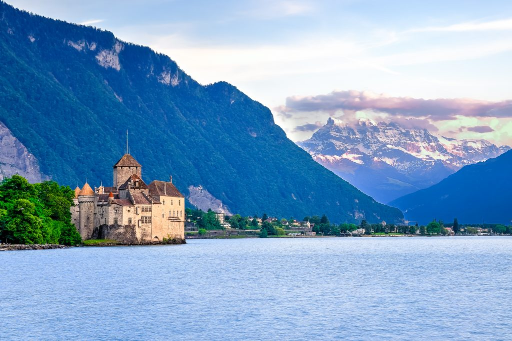 Scenic view from Montreux - The pearl of the Swiss Riviera
