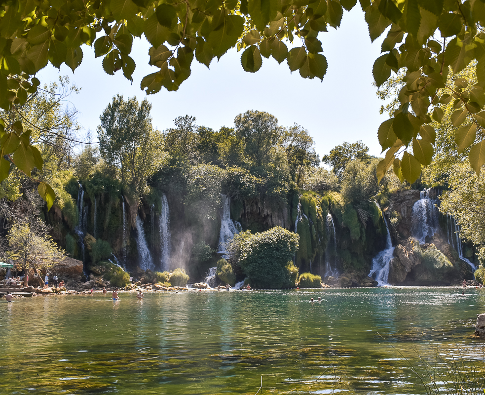 Kravice Falls na Bósnia e Herzegovina