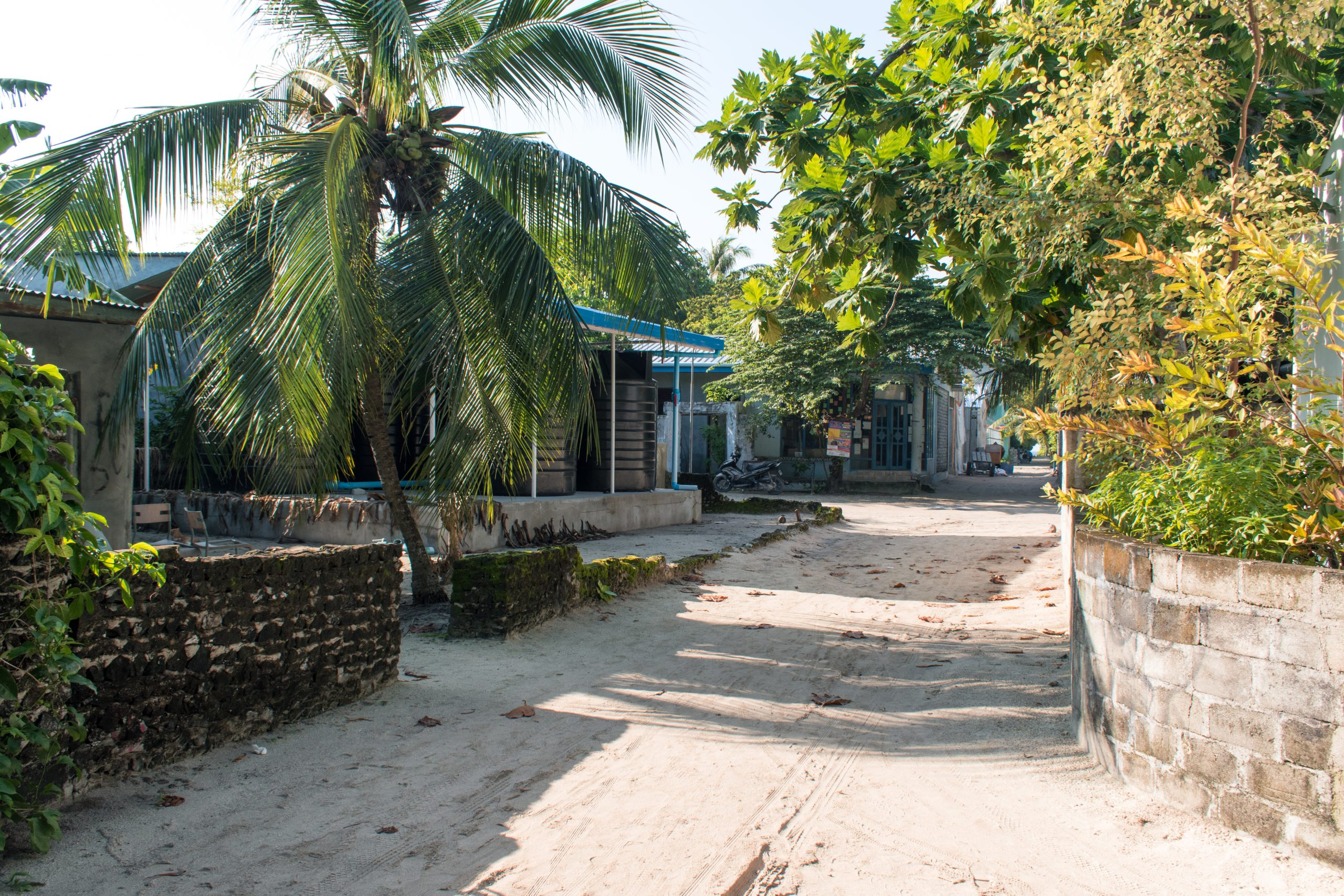 Ilhas locais nas Maldivas